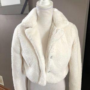 Super Soft White Fur Shrug/Jacket